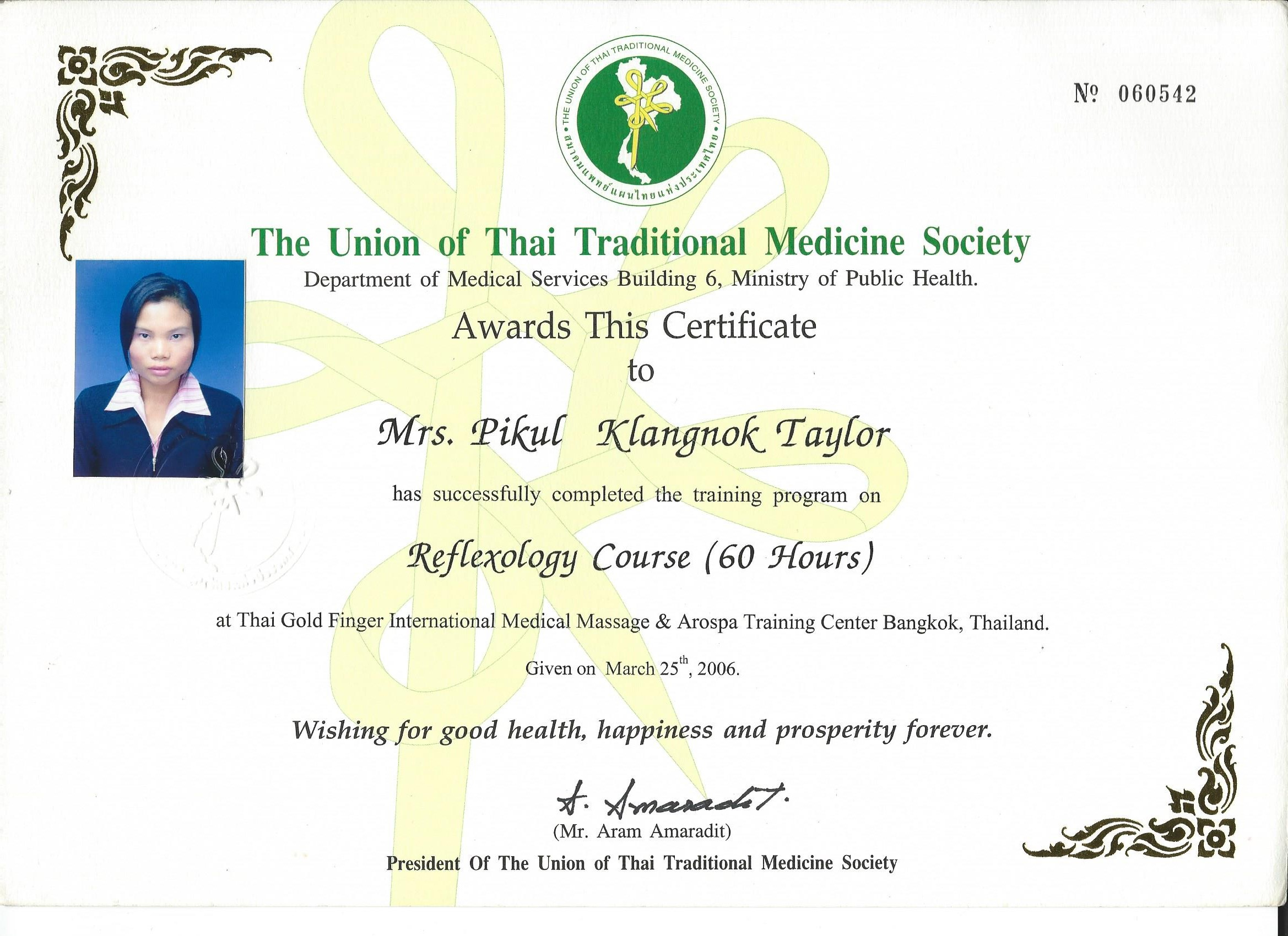 Chanok The Union Of Thai Traditional Medicine Society 2