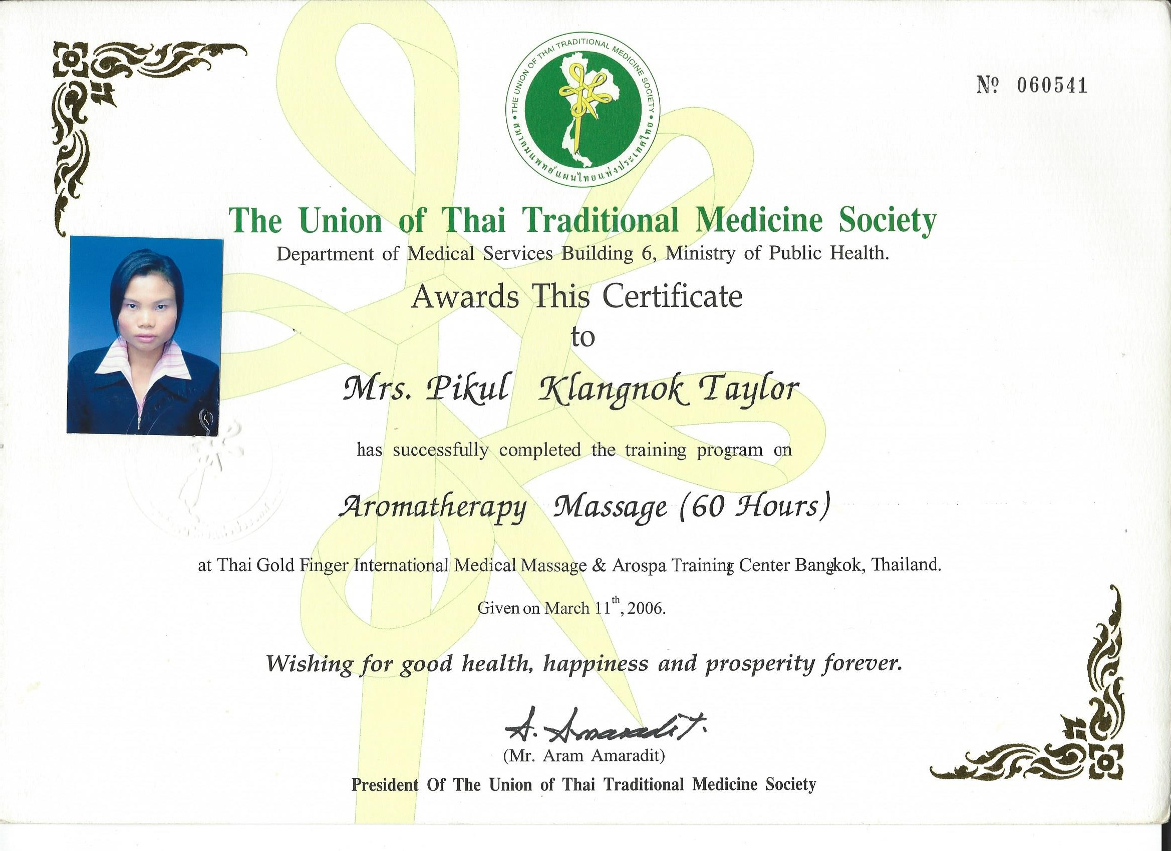 Chanok The Union Of Thai Traditional Medicine Society 4