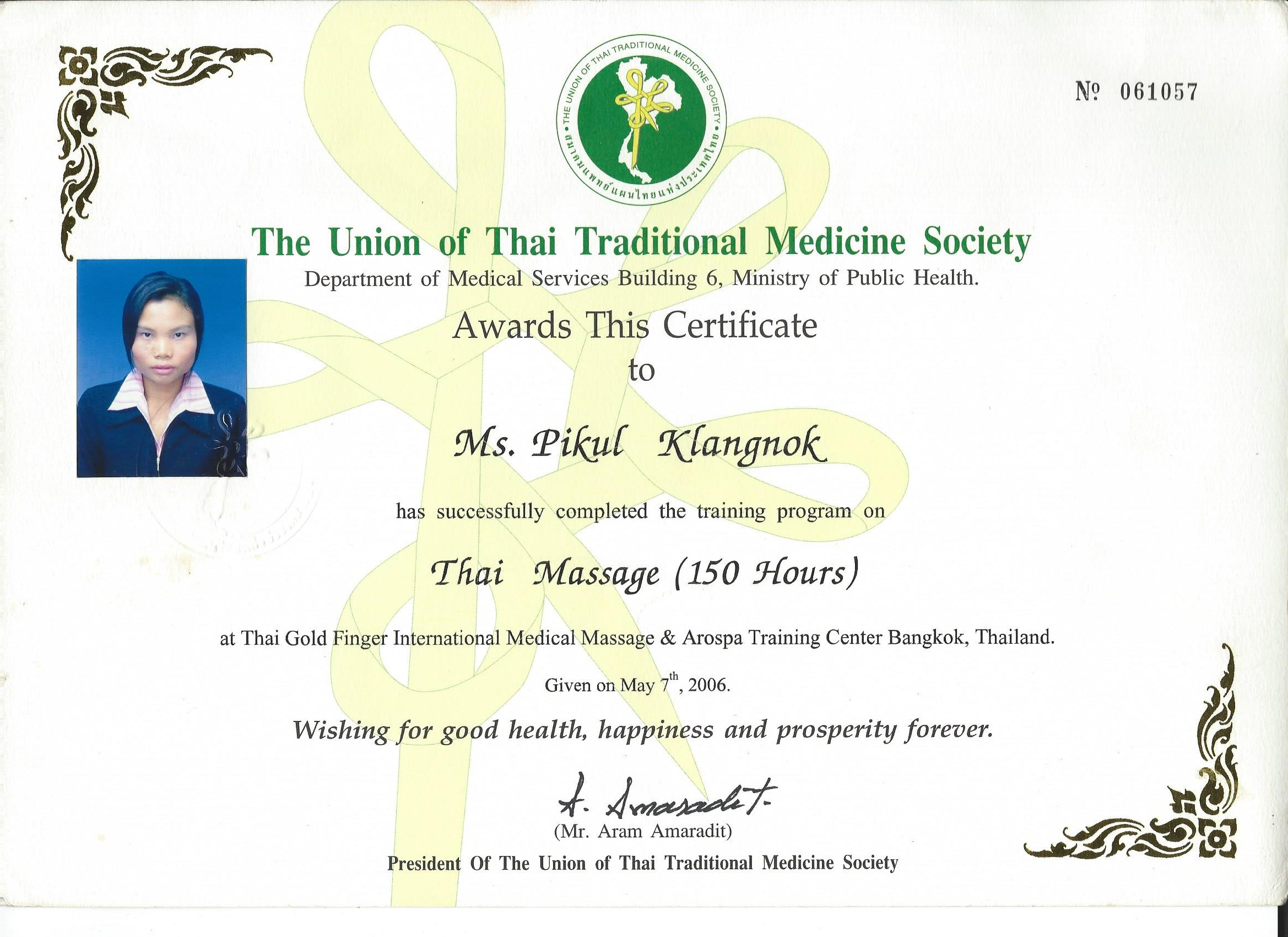 Chanok The Union Of Thai Traditional Medicine Society 7